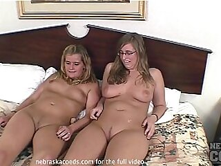 real best friends nervously doing first time porn casting video together