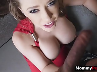 Hot milf mammy finds in foreign lands her step son watches background porn