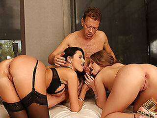 Stepdaughter and her stepmom get analed