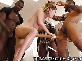 Teen group fucked by bbcs in gangbang