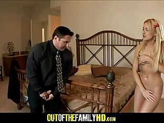 Young Thick Blonde Stepdaughter Mallory Rae Murphy Gives In To Stepdad's Advances