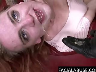 Nasty cunt deep throats and eats ass