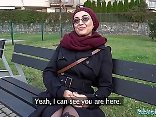 Public Agent Afghan beauty pays to fuck a big cock