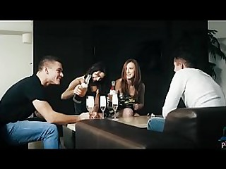 Couple swaps partners with another hot couple in a 4some