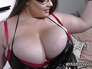Hot bbw Georgina Gee playing her huge boobs in sexy lingery