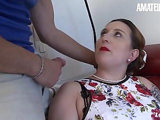 AMATEUR EURO - BBW Housewife Lilou Sou Knows How To Please Her Hubby When Outside It's Hot